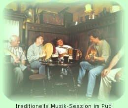 Typische Musiksession in einem irish pub!